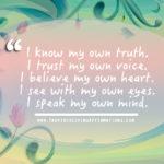 trust my own truth